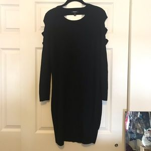 🖤Torrid black long sleeve bodycon dress size 1 🖤